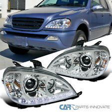 For 98-01 Benz W163 ML320 ML430 ML55 AMG Clear SMD LED Strip Projector Headlight