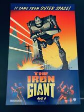 1999 Original The Iron Giant Rolled Advance DS (Aug 6) US One Sheet Movie Poster