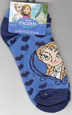 Socks, Girls, Size 6-8, Frozen Design by Planet Sox, Blue, Brand New