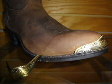 6 Pairs New Antique Gold Cowboy  Boot Tips/Toe Plates for Pointy Toed Boots