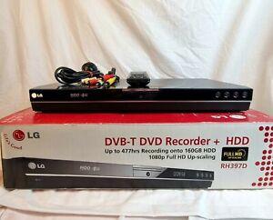 LG RH397D DVD/HDD Recorder Multi Format 160Gb HDMI Inc Remote Original Box