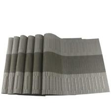 Newest Placemats Set of 6 Gray Tableware Dining Kitchen Modern Design PVC Mats
