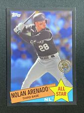Nolan Arenado 2020 Topps 1985 35th Anniversary #85AS-42 Rockies Black SP 136/299