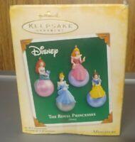2005 Hallmark Keepsake Miniature Ornaments The Royal Princesses Disney