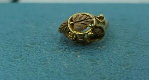 Black Hills 10k Gold Leaf Ring Sz7