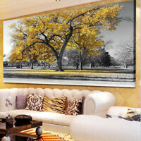 75*100Large Tree Leaves Nature Pictures Print Canvas Wall ArtPrintsUnframed