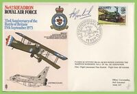 Jersey 1973 RAF Flight Cover No.92 Squadron Spitfire Flown Signed