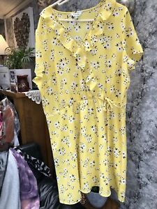 SIMPLY BE Floaty Floral Summer Dress - Size 22 Brand New