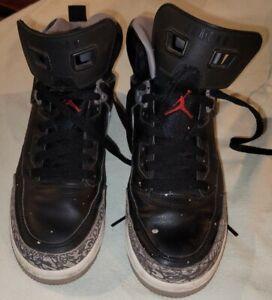 Nike Air Jordan Spizike Black Cement Basketball Shoes GS Boys Size 7Y 317321-034