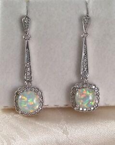 White opal 9k earrings,9ct solid gold  white opal earrings,yellow matt gold opal earrings,minimalist gold opal earrings,anniversary gift