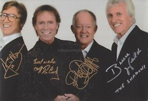 Cliff Richard and The Shadows HAND Signed 12x8 Photo Hank Marvin, Autograph E