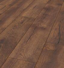 Pallet Deal 12mm Petterson Oak Dark 4v-groove Laminate Flooring Ac5 62 Sqm