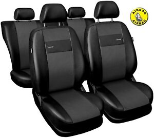 Car seat covers fit Volkswagen Golf Mk5 black/grey  leatherette full set
