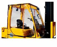 Atrium Full Forklift Cab Enclosure Cover Clear Vinyl - Fits STD size forklifts