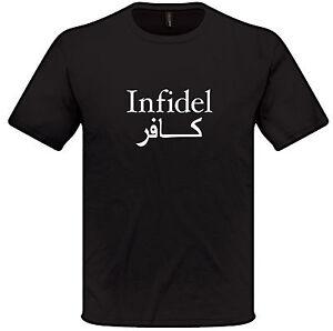 INFIDEL T shirt S-XXL Mens Womens Anti Terrorist