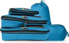 5 Piece Set  Compression Packing Cubes For Travel Laundry Shoe Organizer Bags