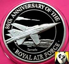 1998 TURKS AND CAICOS 20 Crowns Tornado Royal Air Force RAF Silver Proof Coin
