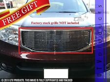 GTG 2012 - 2015 Honda Pilot 1PC Polished Upper Overlay Billet Grille Grill
