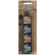 Tim Holtz MINI DISTRESS PAD KIT SET #12 TDPK40422 Ranger Ink Brand New!
