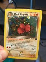 1st Edition Dark Dugtrio 6/82 Holo - Team Rocket Set - WOTC Pokemon Card