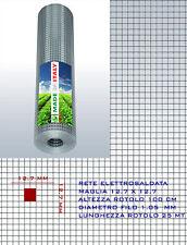 RETE METALLICA ZINCATA ANTITOPO  GABBIE ELETTROSALDATA 12 x12 x 1.05 mm h100 cm