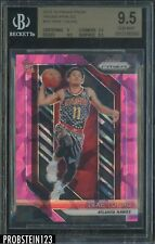 2018-19 Panini Prizm Pink Ice #78 Trae Young Hawks RC Rookie BGS 9.5
