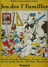 TARDI / SCHLINGO / CESTAC / DENIS . JEU DES 7 FAMILLES . FUTUROPOLIS . 1983 .