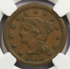 1850 Braided Hair Large Cent NGC VF20