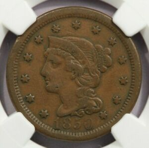 1850 Braided Hair Large Cent NGC VF20