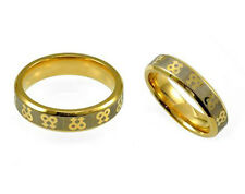 LESBIAN RING: DOUBLE FEMALE SYMBOL (VENUS) GOLD TONE STEEL