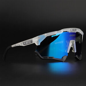 Polarized Sunglasses Men's Cycling Glasses Outdoor Sports Bike Bicycle 3 Lens