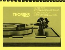 Thorens TD125 MK II Turntable 3-in1 OWNER'S MANUAL and SERVICE MANUAL
