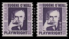 1305C 1305Cv O'Neill $1 Prominent Americans Coil Gum Variety Set 2 MNH - Buy Now