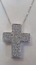 Collier oro bianco 18 kt con croce  mod. Salvini 0,50 ct diamanti