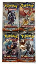 Pokemon Sonne und Mond Nacht in Flammen x 10 Booster ( 100 Karten ) !!!