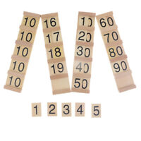Wooden Montessori Math Material Manipulative, Learning Counting, Numbers Board,