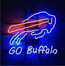 "Buffalo Bills Go Buffalo Light Neon Sign Beer Bar Gift 17""x14"" Lamp Artwork"