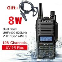 BaoFeng UV9R Plus Waterproof UHF Walkie Talkie Dual Band Handheld Two Way Radio