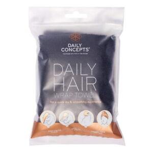 Daily Concepts Daily Hair Wrap Towel, Black (NIP)