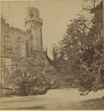 STEREOVIEW ARCHITECTURAL WARWICK CASTLE TOWER.