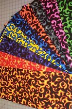 9 Flames On Fire Fat Quarters Bundle Fabric Precut 100% Cotton