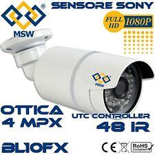 Telecamera Bullet AHD 4MP 1080P Sensore Sony IMX322 3.6mm 30/40 Metri IP66 UTC