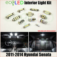For 2011-2014 Hyundai Sonata WHITE LED Interior Light Replacement Package Kit 8x