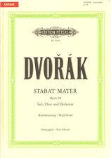 Antonin Dvorak Stabat Mater Opus 58 Noten Klavierauszug Edition Peters 8639