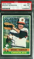 1976 Topps #95 Brooks Robinson PSA 8 NM-MT