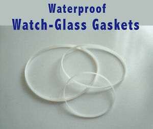 Gasket Seal for watch glass crystals, Hytrel Waterproof seal for watch glasses