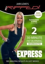 Pump Style Weights EXERCISE DVD - Jari Love Get Ripped EXPRESS - 2 Workouts!