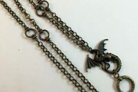 Bronze Dragon Lanyard, Fantasy Badge Holder, Bronze Chain Lanyard, Breakaway Opt