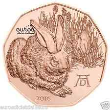 Pièce 5 euros commémorative AUTRICHE 2016 - Jeune Lièvre de Dürer - UNC