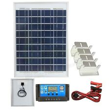 20w Solar Poly Panel Battery Charging Kit Controller & Mounting Bracket SetK2